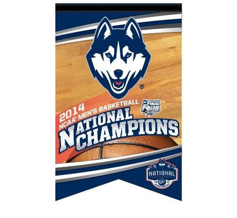 Shop UConn Huskies 2014 NCAA Basketball National Champions 17'' x 26'' Premium Banner - Sporting Up