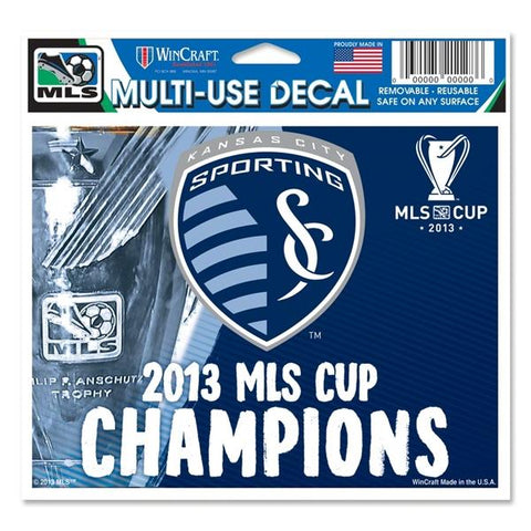 2013 MLS Cup Champions Sporting KC Kansas City WinCraft Multi-Use Ultra Decal - Sporting Up
