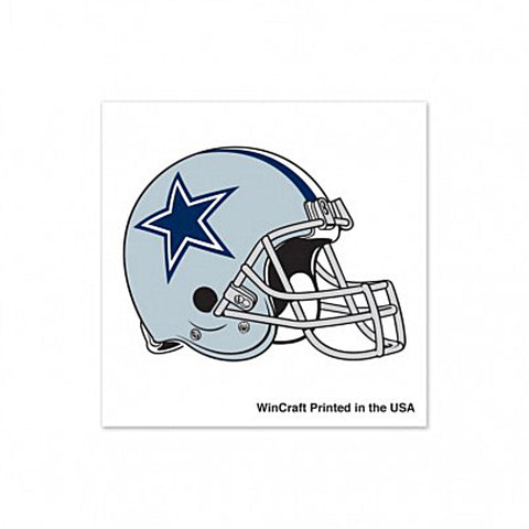 Shop Dallas Cowboys WinCraft Gameday Gray & Navy Helmet Temporary Tattoos (4 Pack)