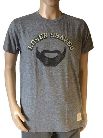 Shop Pittsburgh Penguins Retro Brand Gray Loser Shaves Beard T-Shirt
