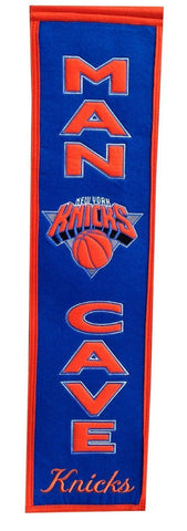 "New York Knicks Winning Streak Man Cave Wool Banner Blue (8""x32"")"