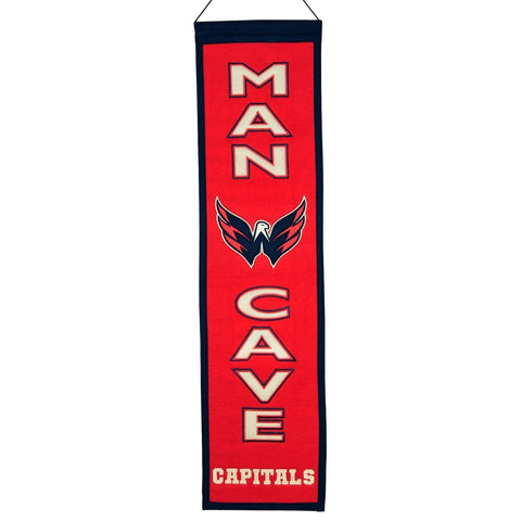"Washington Capitals Winning Streak Man Cave Wool Banner (8""x32"")"