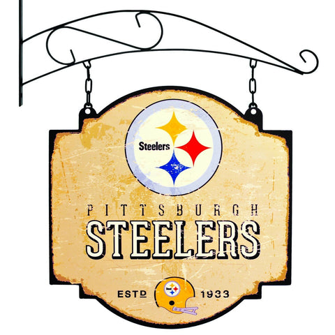 "Pittsburgh Steelers Winning Streak Retro 1969 Tavern Pub Bar Sign (16""x16"") - Sporting Up"