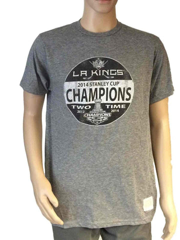 Shop Los Angeles Kings Retro Brand 2014 Stanley Cup Champion Hockey Puck Logo T-Shirt