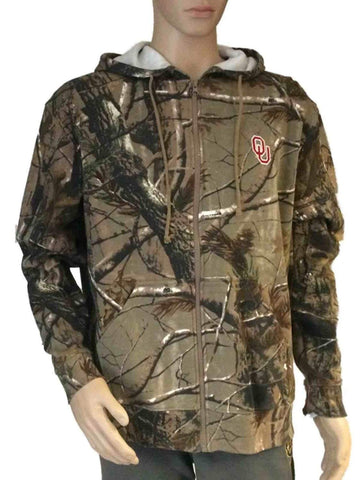 Shop Oklahoma Sooners Realtree Outfitters Camo Full-Zip Hooded LS Sweatshirt
