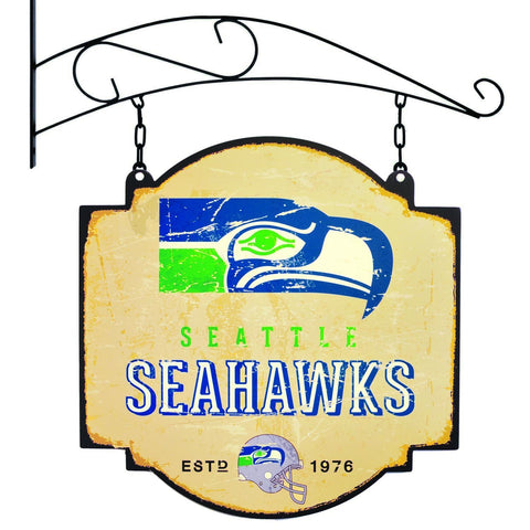 "Seattle Seahawks Winning Streak Retro 1976 Tavern Pub Bar Metal Sign (16""x16"")"