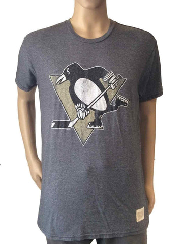 Shop Pittsburgh Penguins Retro Brand Gray Vintage Style Scrum NHL T-Shirt