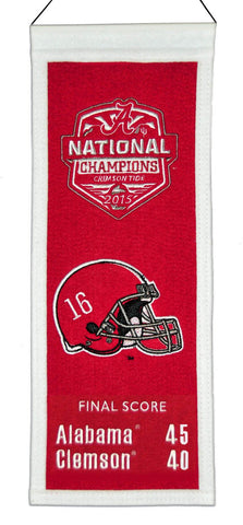 Alabama Crimson Tide 2016 Football National Champs Embroidered Wool Mini Banner
