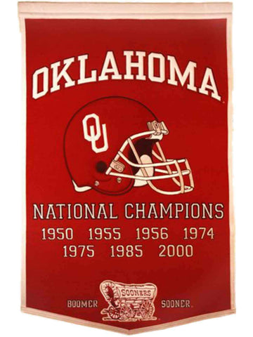 "Oklahoma Sooners Winning Streak Genuine Wool Dynasty Banner (24""x36"")"