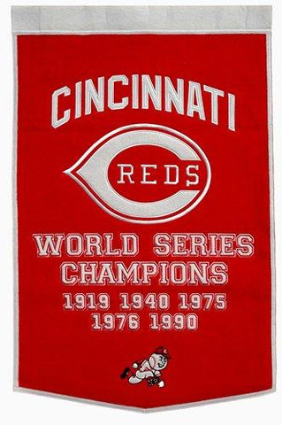 "Cincinnati Reds Winning Streak Genuine Wool Dynasty Banner (24""x36"")"