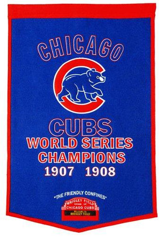 "Chicago Cubs Winning Streak Genuine Wool Dynasty Banner (24""x36"")"