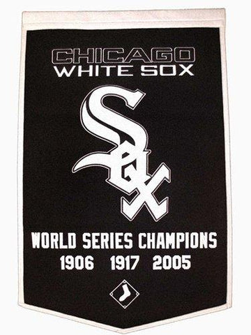 "Chicago White Sox Winning Streak Genuine Wool Dynasty Banner (24""x36"") - Sporting Up"