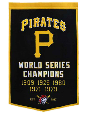 "Pittsburgh Pirates Winning Streak Genuine Wool Dynasty Banner (24""x36"")"