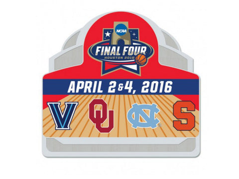 Shop 2016 NCAA Final Four College Basketball 4 Team Logos Houston Metal Pin - Sporting Up