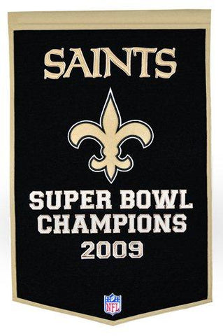 "New Orleans Saints Winning Streak Genuine Wool Dynasty Banner (24""x36"")"