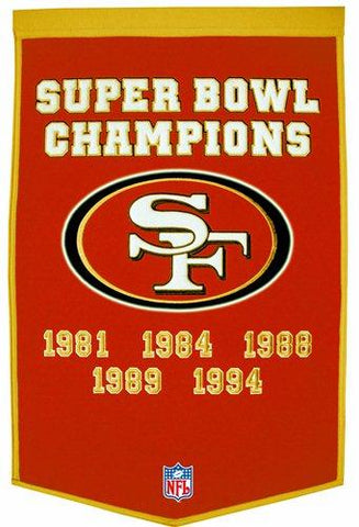 "San Francisco 49ers Winning Streak Genuine Wool Dynasty Banner (24""x36"")"
