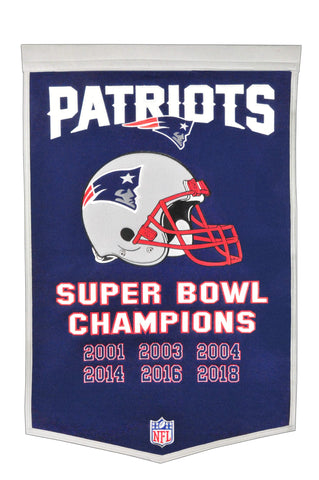 Shop New England Patriots Winning Streak 6-Time Super Bowl Champions Dynasty Banner