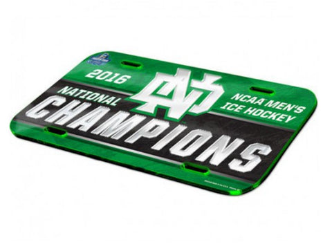 North Dakota Fighting Hawks 2016 Hockey National Champions License Plate Cover - Sporting Up