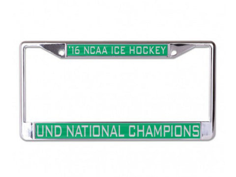 Shop North Dakota Fighting Hawks 2016 Hockey National Champions License Plate Frame