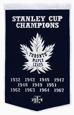 "Toronto Maple Leafs Winning Streak Genuine Wool Dynasty Banner (24""x36"")"