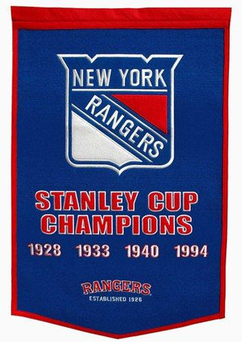 "New York Rangers Winning Streak Genuine Wool Dynasty Banner (24""x36"")"