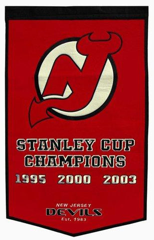 "New Jersey Devils Winning Streak Genuine Wool Dynasty Banner (24""x36"")"
