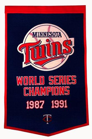 "Minnesota Twins Winning Streak Genuine Wool Dynasty Banner (24""x36"")"