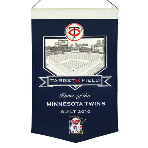 "Minnesota Twins Winning Streak Navy Target Field Wool Banner (15""x20"")"