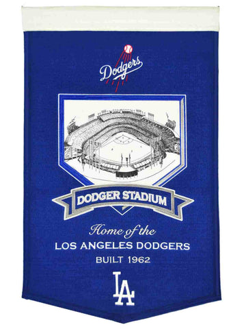 "Los Angeles Dodgers Winning Streak Blue Dodger Stadium Wool Banner (15""x20"")"