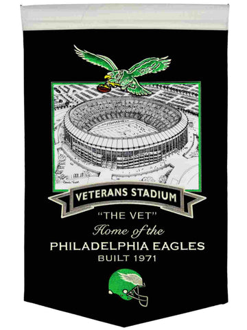 "Philadelphia Eagles Winning Streak Retro Veterans Stadium Wool Banner (15""x20"")"