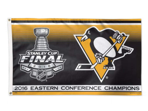Pittsburgh Penguins 2016 Eastern Conference Champions Indoor Outdoor Flag 3' x5'