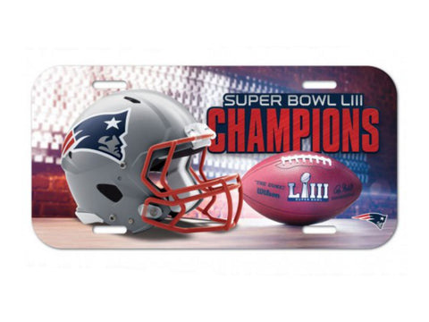 New England Patriots 2018-2019 Super Bowl LIII Champions Plastic License Plate