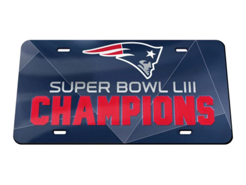 New England Patriots 2018-2019 Super Bowl LIII Champs Mirror License Plate Cover