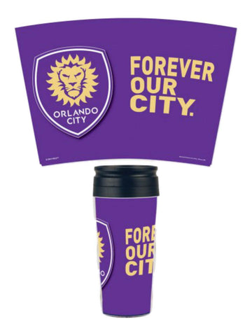 Shop Orlando City SC Wincraft Forever Our City MLS 16 oz. Contour Travel Coffee Mug - Sporting Up