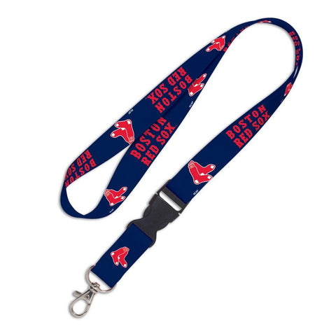 Shop Boston Red Sox WinCraft Blue Red Buckle Snap MLB Licensed Lanyard