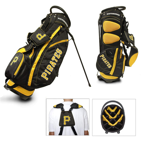Shop Pittsburgh Pirates Team Golf Fairway Lightweight 14-Way Top Golf Club Stand Bag - Sporting Up