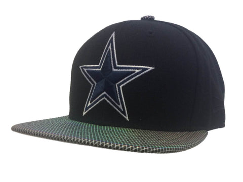 Shop Dallas Cowboys New Era 9Fifty Black Structured Adj Hollographic Flat Bill Hat