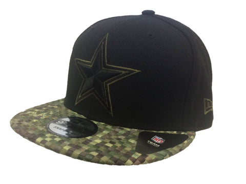 Shop Dallas Cowboys New Era 9Fifty Black Structured Adj Colorful Woven Flat Bill Hat