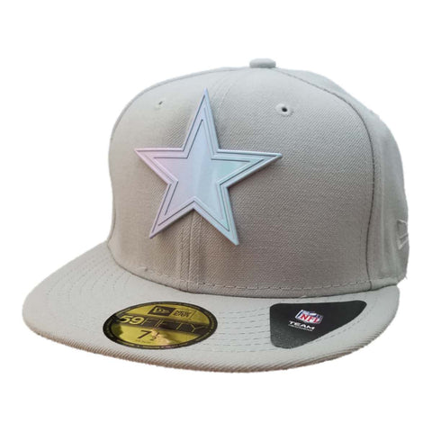Shop Dallas Cowboys New Era 59FIFTY Gray Structured Fitted Flat Bill Hat Cap (7 1/2)