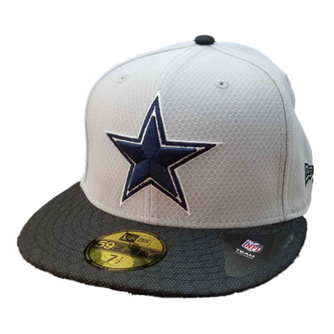 Shop Dallas Cowboys New Era 59FIFTY Gray & Black Fitted Flat Bill Hat Cap (7 1/2)