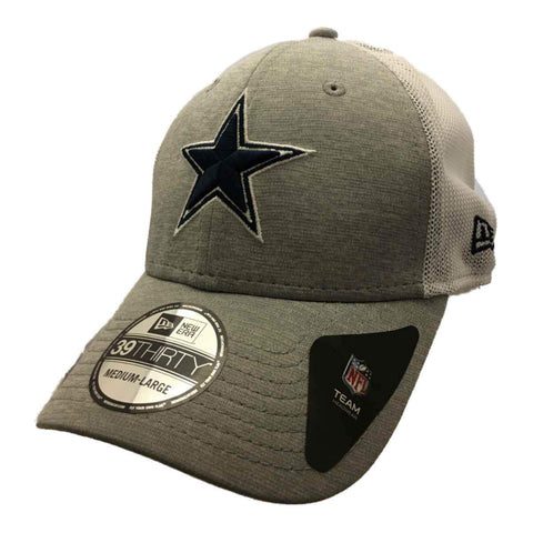 Shop Dallas Cowboys New Era 39Thirty Gray & White Structured Baseball Hat Cap (M/L) - Sporting Up