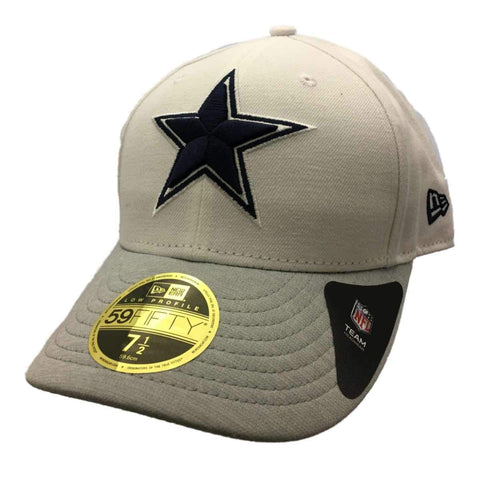 Shop Dallas Cowboys New Era 59Fifty White Structured Fitted Baseball Hat Cap (7 1/2)