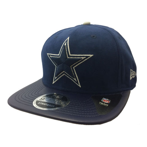 Shop Dallas Cowboys New Era 9Fifty Faux Leather Suede Style Strapback Flat Bill Hat