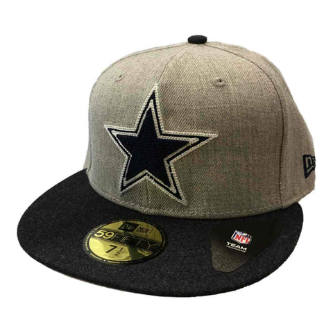 Shop Dallas Cowboys New Era 59Fifty Gray & Navy Structured Flat Bill Hat Cap (7 1/2)