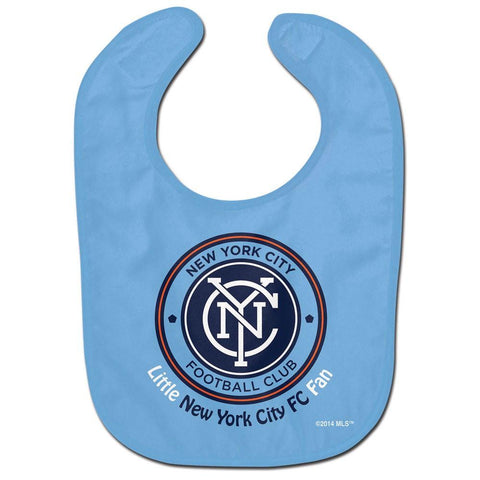 Shop New York City FC WinCraft Blue Little Fan Logo Infant Baby Bib - Sporting Up