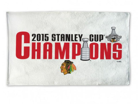 Shop Chicago Blackhawks 2015 Stanley Cup Champions Official Locker Room Bench Towel - Sporting Up