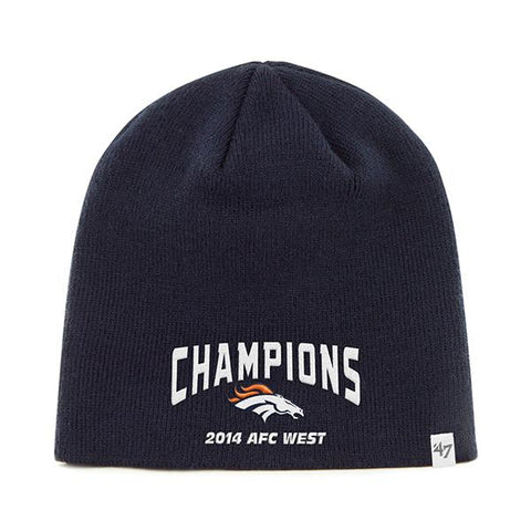 Shop Denver Broncos 47 Brand 2014 AFC West Champions Navy Hat Cap Beanie