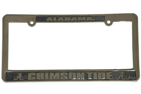 Shop Alabama Crimson Tide Game Day Outfitters Silver Plastic License Plate Frame