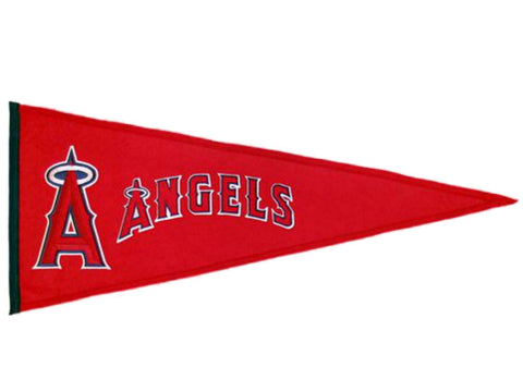 "Anaheim Angels MLB Winning Streak Traditions Wool Wool Pennant (13"" x 32"")"
