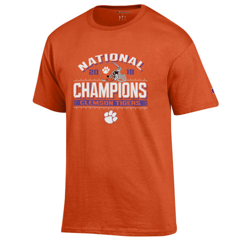Clemson Tigers 2018-2019 Football National Champions Orange Short Sleeve T-Shirt